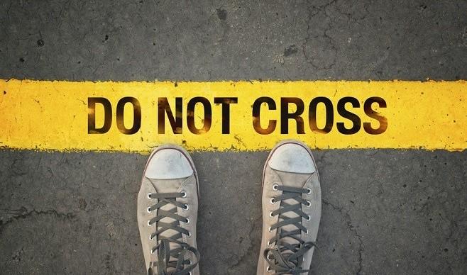 Do not cross the line